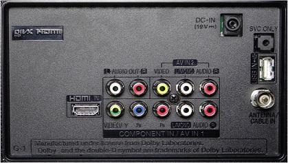 LG LH516A back inputs