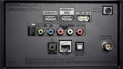 LG LJ573D back inputs
