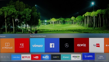 Samsung K4300 Smart TV apps