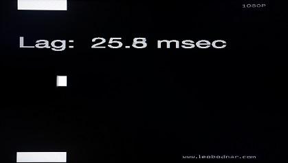 Sony R302E input lag