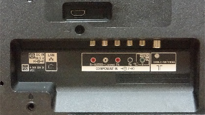 Sony W562D back inputs