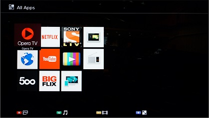 Sony W672E Smart TV apps
