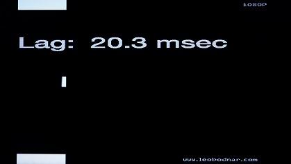 Sony W672E input lag