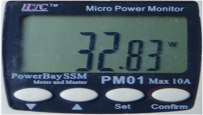 VU K160M max power consumption